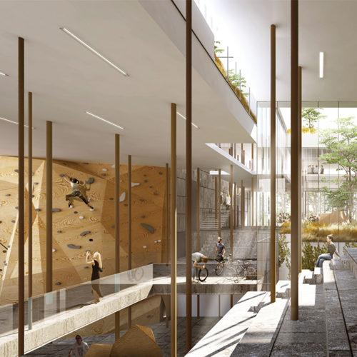4B - Ensemble de bureaux, logements et plateau sportif